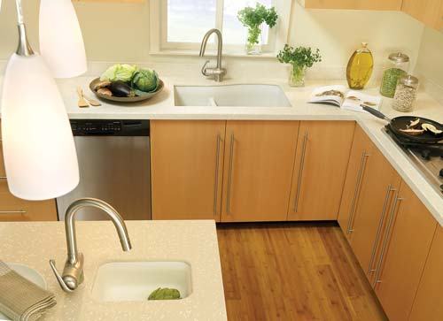 Swanstone Single Bowl Undermount Kitchen Sink