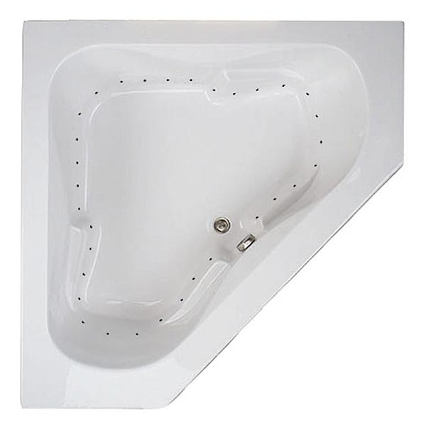 Swirl-Way Ambria Corner tub shown as air massage bath