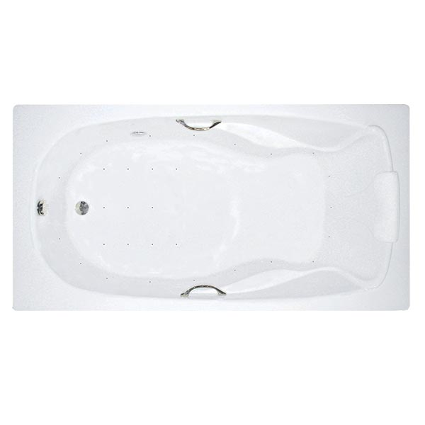 Swirl-Way Baywood rectangle-shaped bathtub shown as air massage bath
