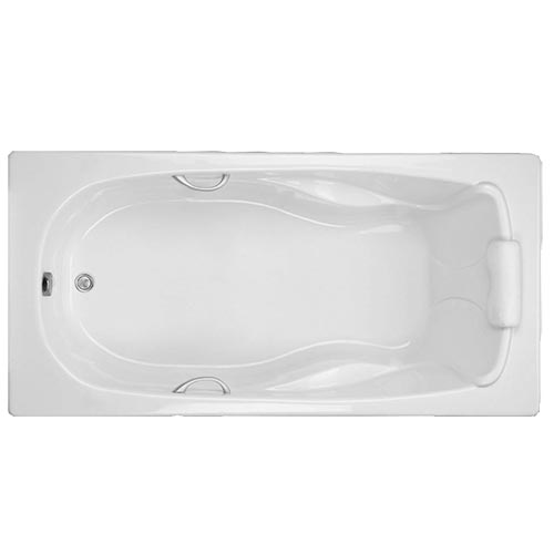 Swirl-Way Baywood rectangle-shaped bathtub shown as soaker