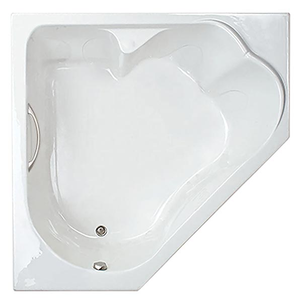 Swirl-Way Castille Corner tub shown as soaker