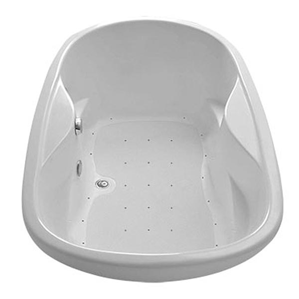 Swirl-Way Essence oval bathtub shown as air massage bath