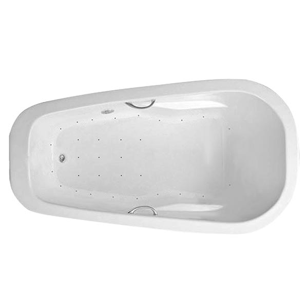 Swirl-Way Reo oval bathtub shown as air massage bath