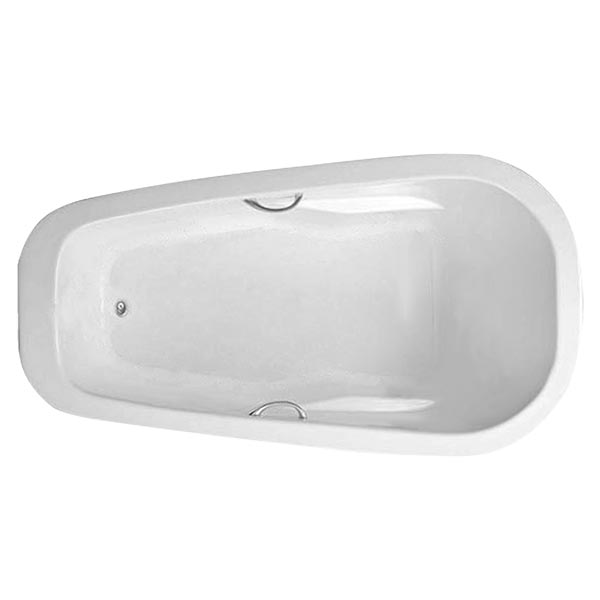Swirl-Way Reo oval bathtub shown as soaker
