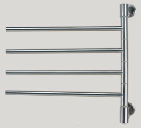 Swivel Towel Warmer With 4 Straight Rails