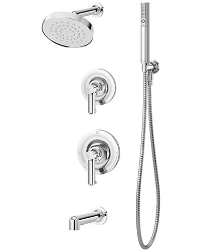 Photo of complete Museo shower/handshower system in chrome