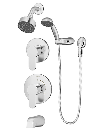Complete Identity shower/handshower system in chrome