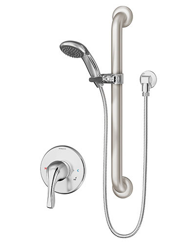 Beautiful Symmons Origins Series 9603 Handshower System With Grab Bar