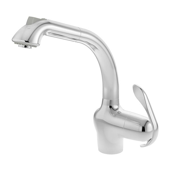 Symmons Forza Chrome Single Handle Pull Out Kitchen Faucet Chrome