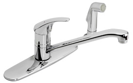 Classic kitchen faucet with side spray