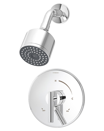 Pressure balance Dia shower system, shown in chrome