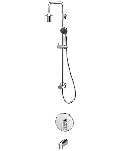 Complete Dia shower/handshower system in chrome