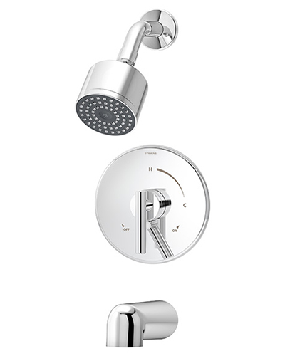 Chrome plated Dia tub/shower system model S-3502