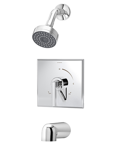 Chrome plated Duro tub/shower system model S-3602
