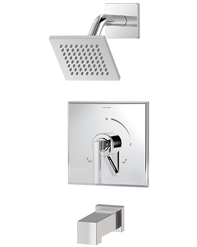 Chrome plated Duro tub/shower system model S-3602-SH4-T4