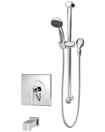 Duro Tub U0026 Handshower System With Diverter (Square Tub Spout)