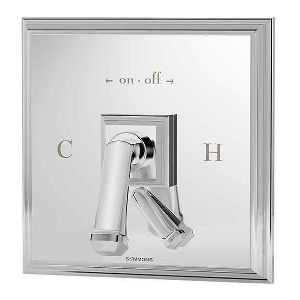 Oxford series S-4200TS shower valve and trim with diverter in chrome