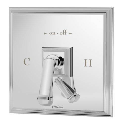 Oxford series S-4200 shower valve and trim with volume control in chrome