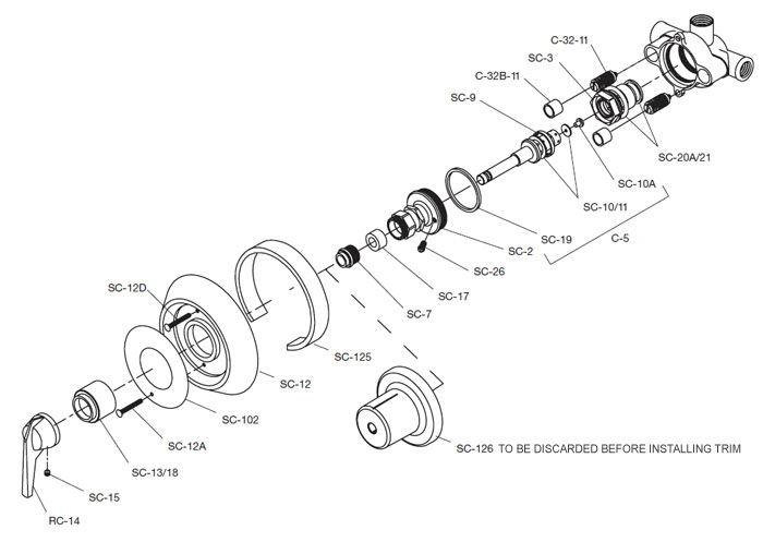 Symmons on moen shower diverter valve diagram