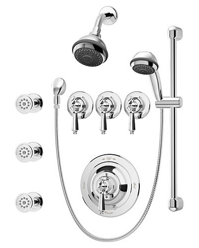 two wall shower system