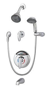 Visu-Temp with Clear-Vue Shower tub/shower system