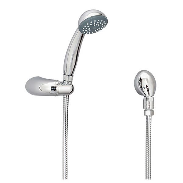 Euro-Flo three mode hand shower with wall mount