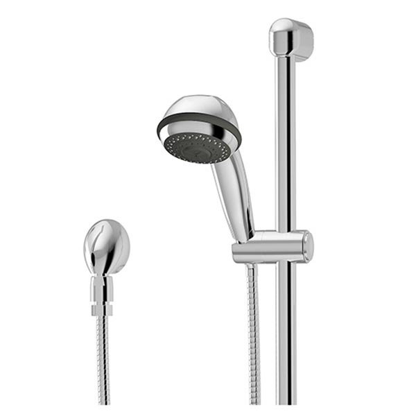 Euro-Flo three-spray handshower with wall bar