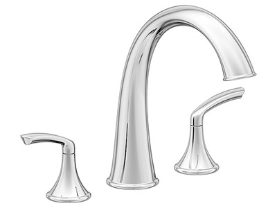 Image of Elm Roman tub faucet, shown in chrome