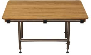 rectangular teak transfer shower bench