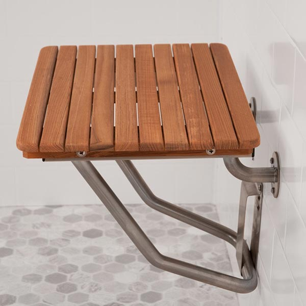 ADA pliant Foldup Teak Shower Seats and Benches
