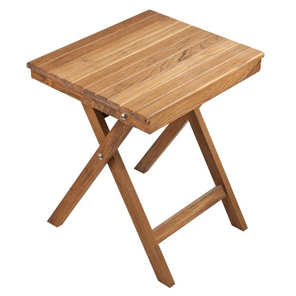 Teakworks folding side table