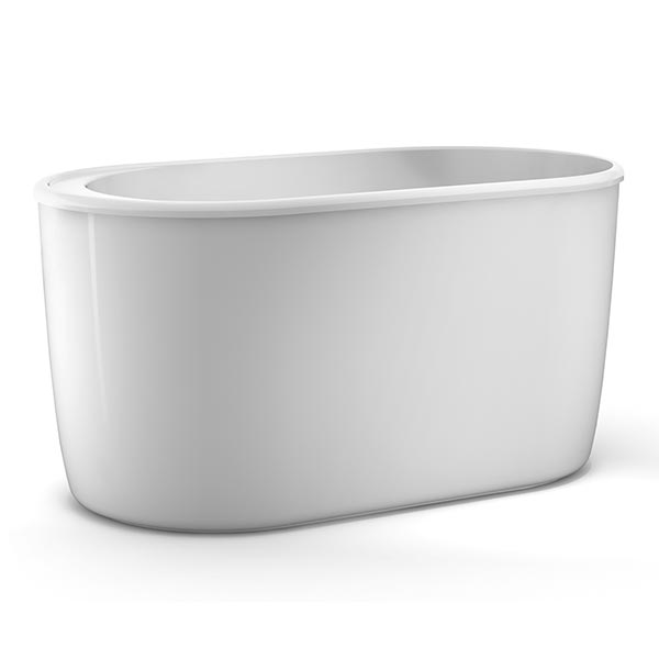 Barclay Onyx oval-shaped freestanding tub with built-in seat