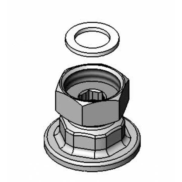Female threaded eccentric flange - 00AA