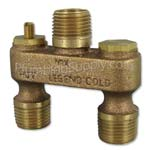 anti-sweat mixing valve for toilet tanks