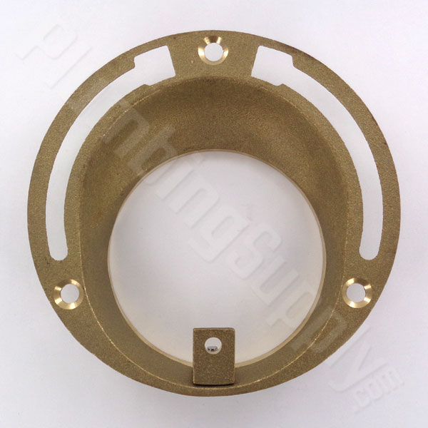 Offset brass toilet flange
