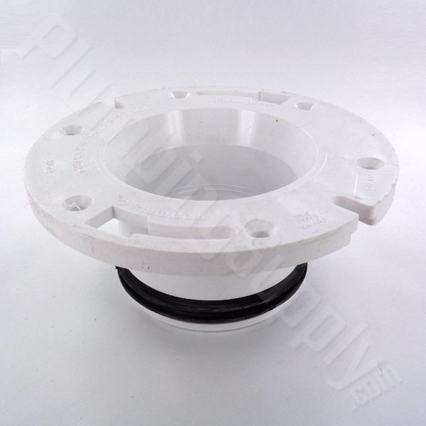 Photo of two finger PVC insert replacement toilet flange