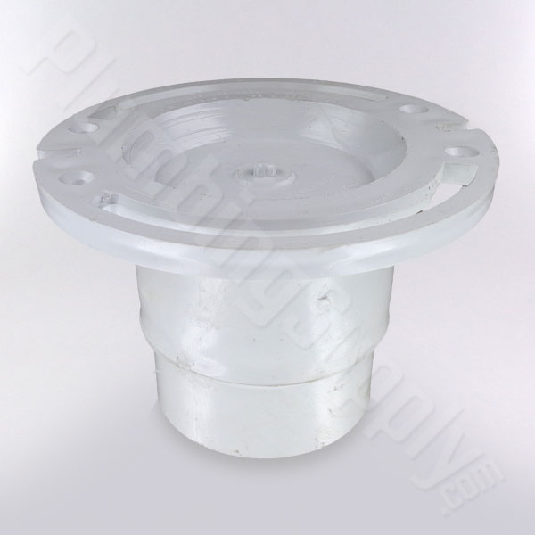 PVC toilet flange with adjustable threaded bushing