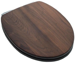 Wonderful Elongated Black Walnut Toilet Seat