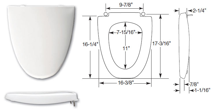 American Standard Toilet Seats >> TOILET SEATS for nearly every toilet including American Standard, Eljer Emblem and more!