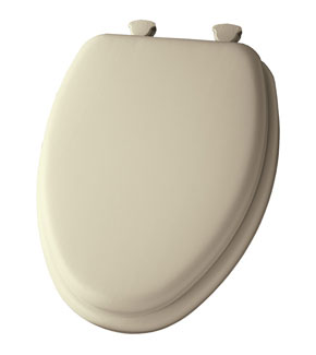 Bone padded toilet seat
