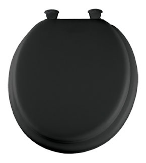 Black padded toilet seat