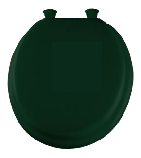 Green padded toilet seat