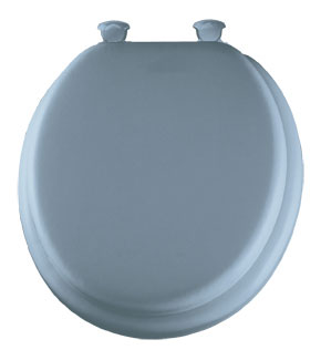 Sky Blue padded toilet seat