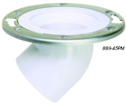 Drop-Kick 45™ 45° Outlet Closet Flange # 889-45PM