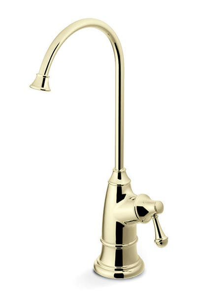 Polished brass designer dispenser faucet