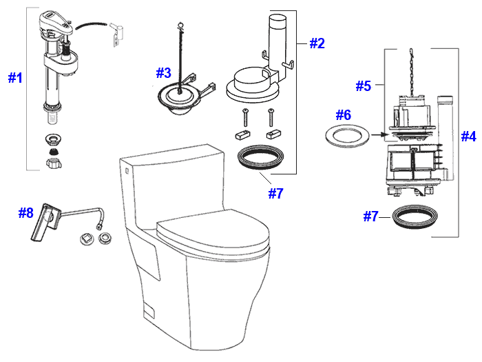 toto legato toilet replacement parts