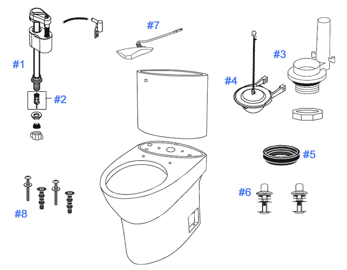 Parts Diagram For Pacifica Toilets