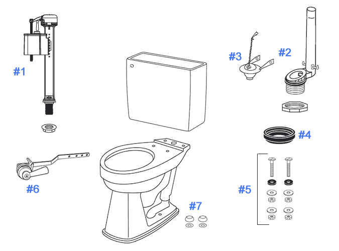 parts of toilet bowl