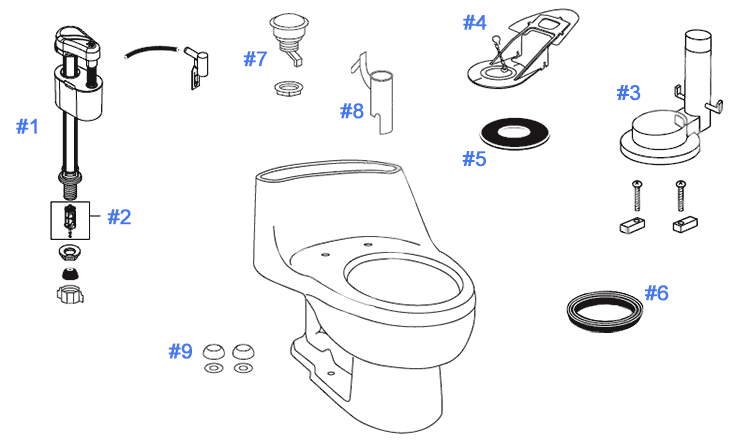 push button toilet parts. Parts diagram for Prominence toilets Toto Toilet Replacement