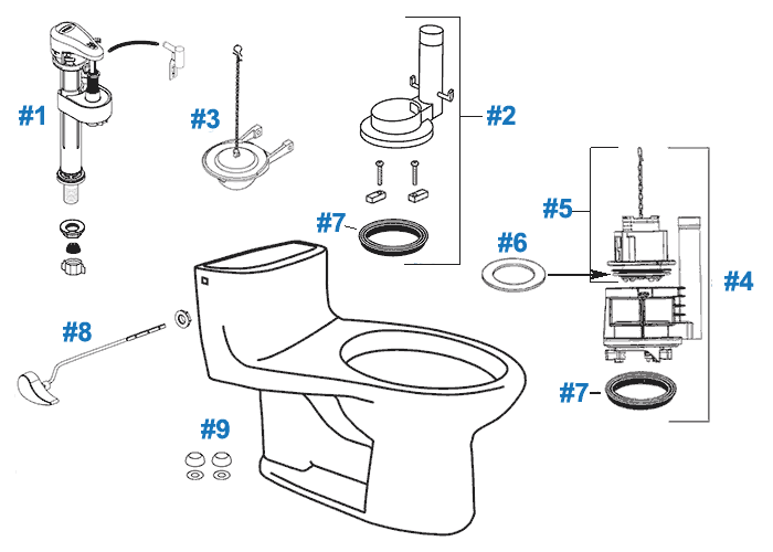 toto supreme toilet replacement parts